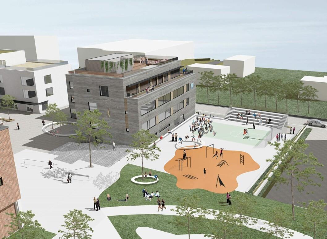 Idrettsskole til Hasle: HasleLinje skal oppføre et nybygg til WANG Ung Oslo på 3.000 kvadratmeter, som er innflytningsklart i 2018.