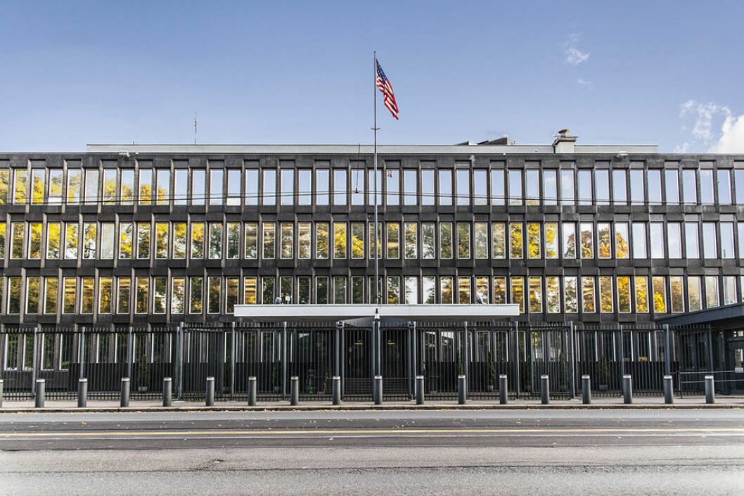 Den amerikanske ambassaden. (Foto: Fredrik Hansson/fhfotodrone.com)