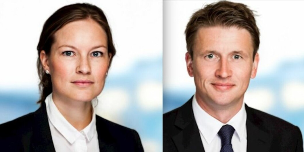 advokat Ingrid Johanne Dahlberg og advokat/partner Christian Kjellby Nesset – Advokatfirmaet Steenstrup Stordrange DA – SANDS