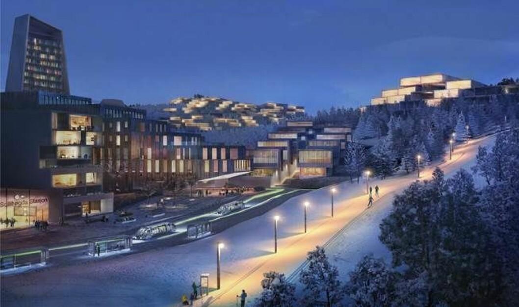 Slik kan den nye byen i Bærum bli.