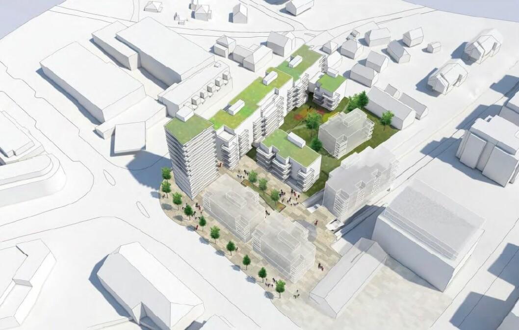 Ifølge Link Arkitektur vil den nye bebyggelsen gi området et betydelig løft.