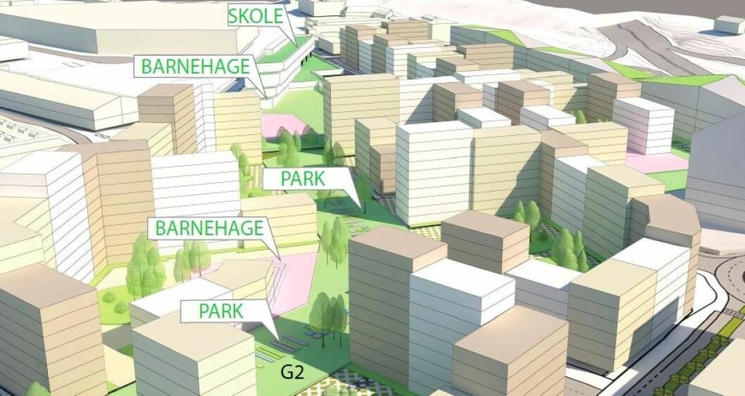 Økningen i antall boliger skal følge opp ambisjonen i strategisk plan for Hovinbyen.