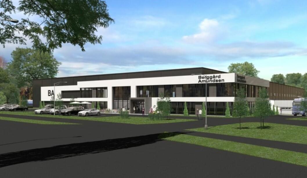 Slik kan det nye hovedkontoret og lagerbygget til Berggård Amundsen & Co bli.