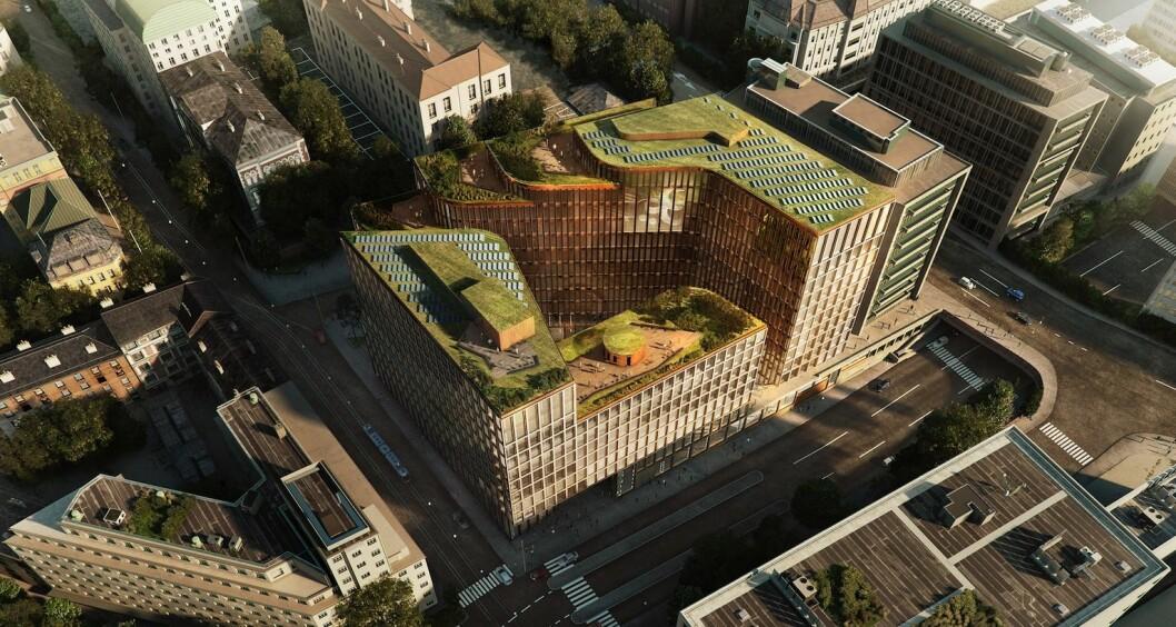 VIA-prosjektet i Vika har fått sin første store leiekontrakt. Ill.: Schmidt Hammer Lassen (DK).