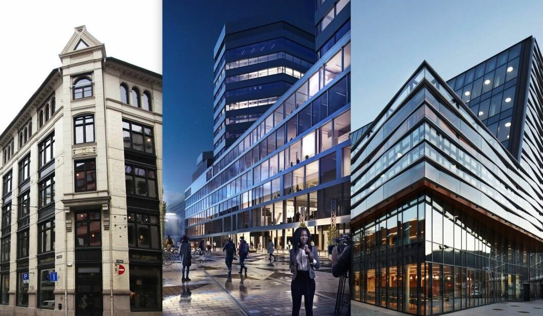 Sentralen i Oslo, Media City Bergen og Jonsvollkvartalet i Bergen kjemper om Cityprisen.