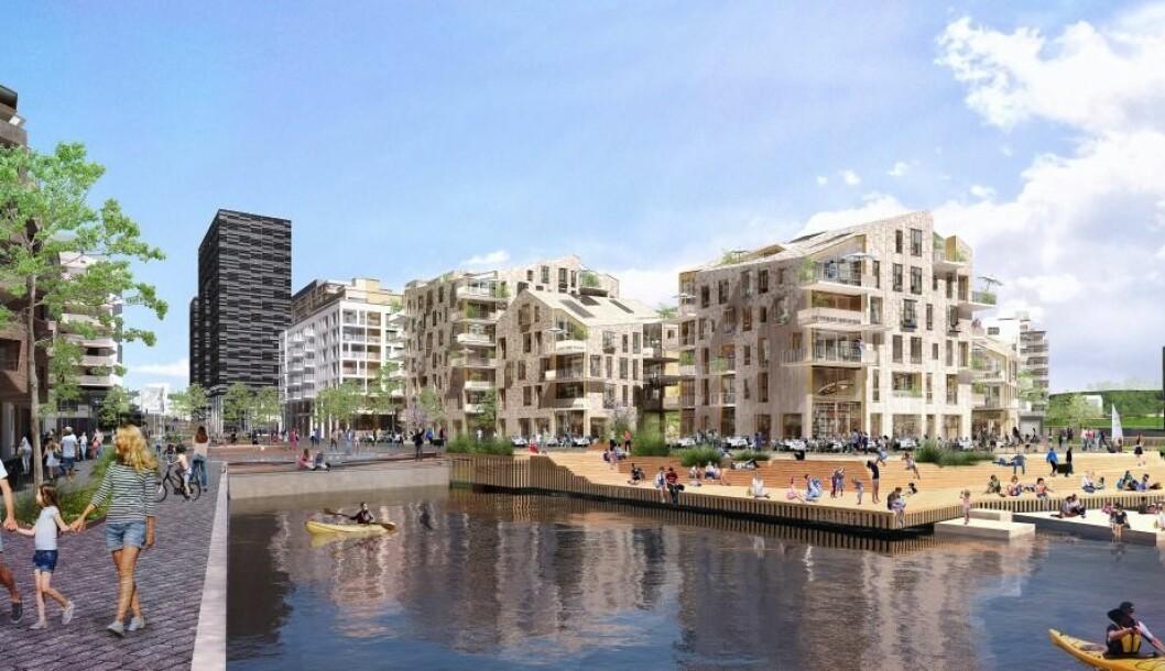 Boligkjøperne har tatt veldig godt i mot det nye boligprosjektet Vannkunsten.