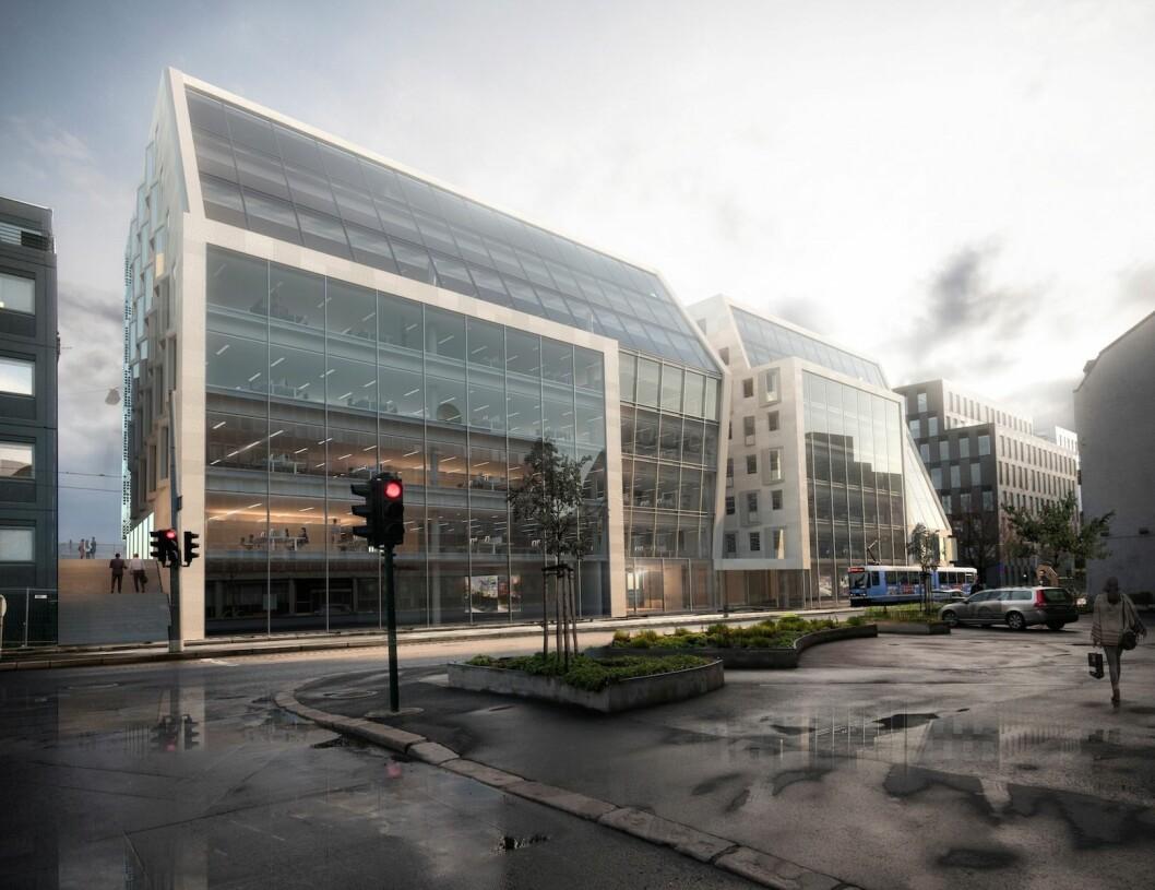 Schweigaards gate 33 kan bli solgt for over 1,6 milliarder kroner. Ill.: LPO Arkiteker