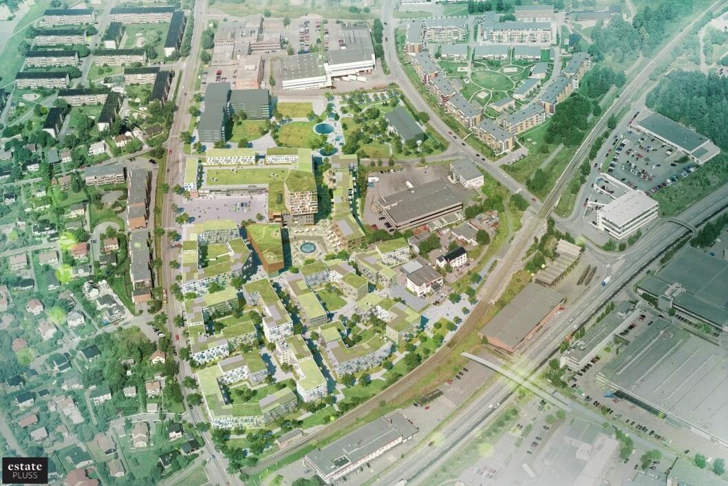 Det skal bygges rundt 1000 boliger på Vollebekk. Ill.: A-lab.