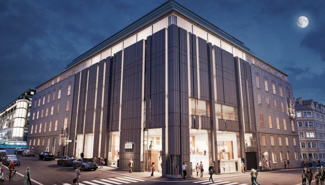 Kongens gate 31, også kjent som Telefrafbygningen, skal stå ferdig rehabilitert i andre kvartal 2020. Ill.: 3D Estate.