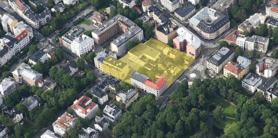 Her arbeides det med planer for boliger og sentrumsformål.