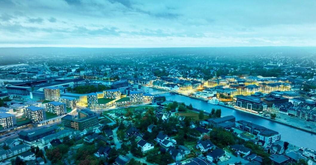 NY BY: Det er lenge siden Fredrikstad var Plankebyen. Nå er sentrum midt i en byutvikling som tar luven fra de fleste. Ill.: Værste.