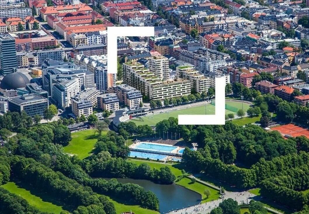 Totalt rommer prosjektet 329 leiligheter. (Illustrasjon: LOF Arkitekter)