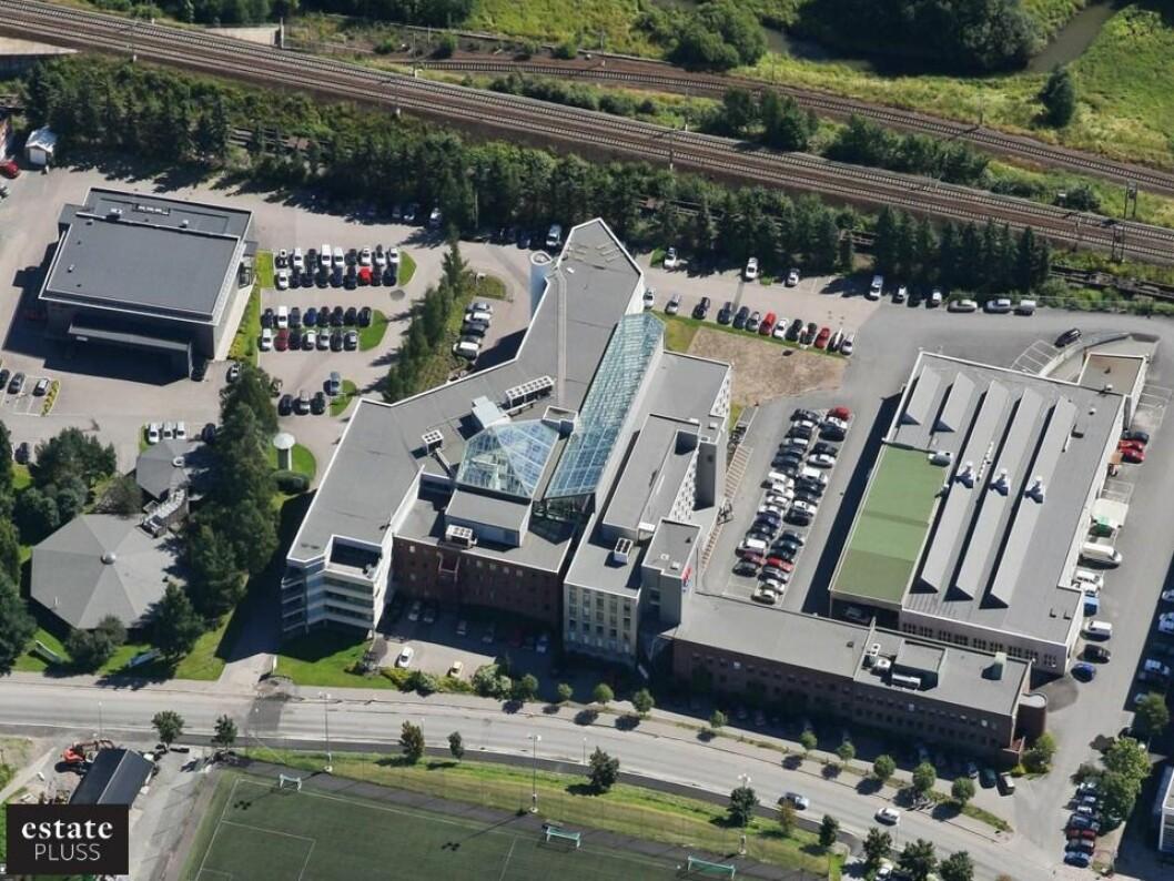 Eiendommen er på rundt 25 000 kvadratmeter.