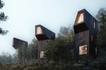 NYTT: Ifølge LINK arkitektur trenger ikke hytter å se ut som stabbur. Ill.: LINK arkitektur, K2 Visual