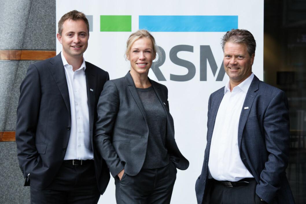 SKATTEEKSPERTER: Fra venstre: Morten H. Christophersen, advokat skatt og selskapsrett, Marianne Brockmann Bugge, advokat merverdiavgift, og Johan K. Engelschiøn, advokat skatt og selskapsrett.