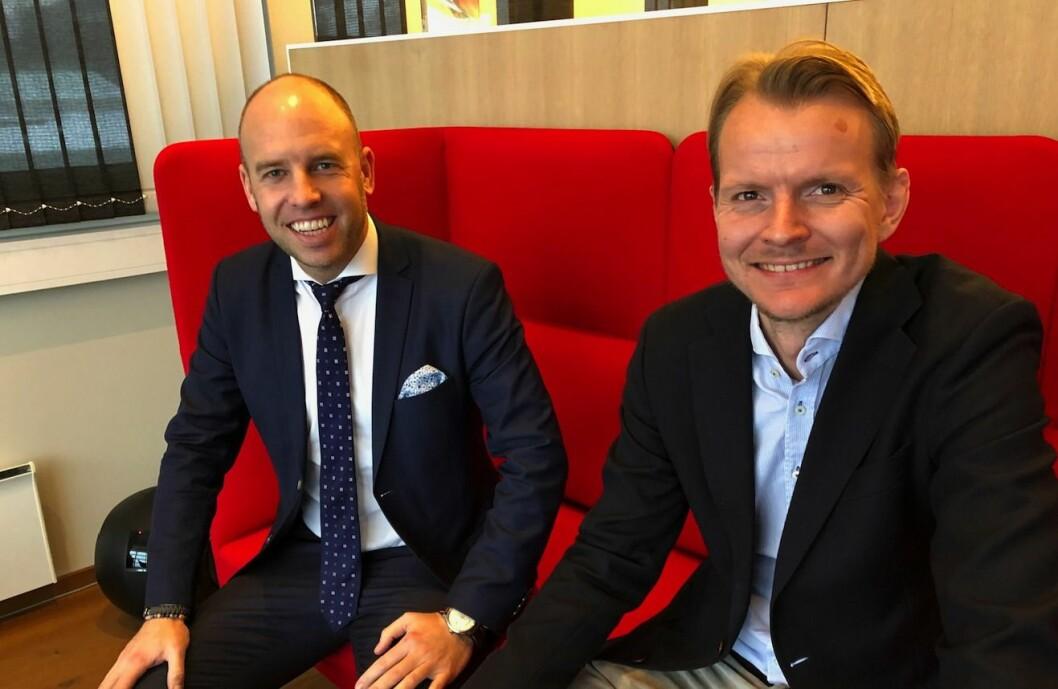 FORNØYD: Emil Eriksrød er strålende fornøyd med ansettelsen av Eirik Engaas som ny CFO.