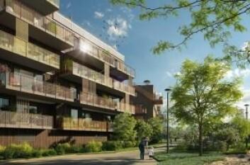 BERGER HAGE: 130 av 192 leiligheter i Berger hage er allerede solgt. Ill.: Bakke
