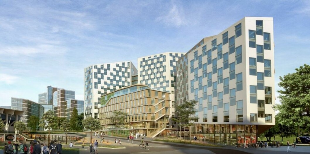 STORT: NCC vil bygge 60.000 kvadratmeter kontorer på Valle. Ill.: NCC