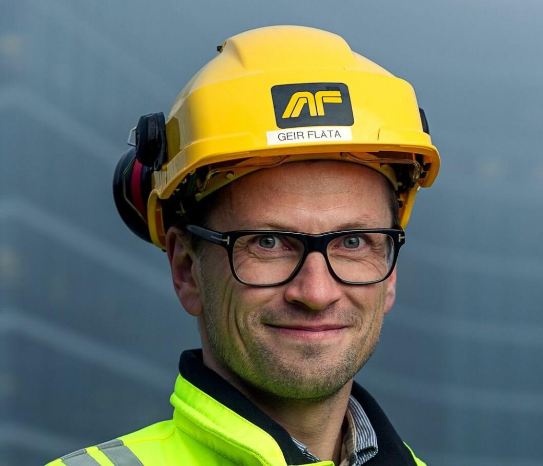 NY: Geir Flåta er ny konserndirektør i AF Gruppen.
