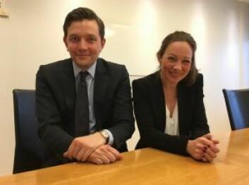 NEXT GENERATION LAWYERS: Wikborg-advokatene Ingrid Høstmælingen og Lars Ulleberg Jensen er rangert som to av de mest lovende advokatene innen eiendom.