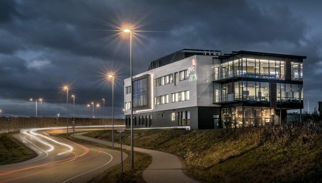 FØRSTE TRINN: Slik er Tassebekk kontorsenter i dag, men HG Eiendom vil doble arelaet med nok et byggetrinn.