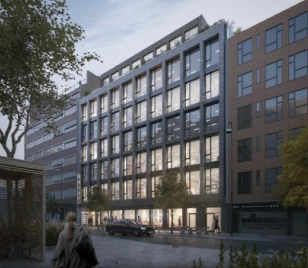 NI ETASJER: Bygningen skal inneholde ni etasjer inklusive en kjelleretasje med tekniske rom Ill: Link Arkitektur