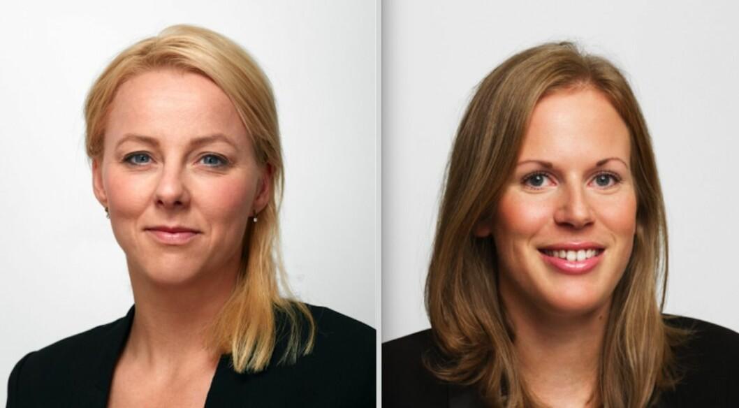 Partner Trude Gran Melbye og fast advokat Helene Hem Halum i Advokatfirmaet Selmer.