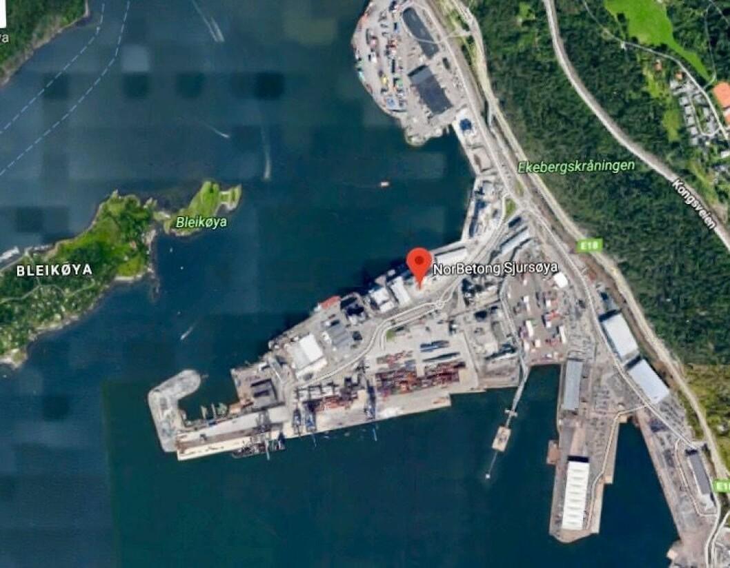 KORTREIST BETONG: Dagens anlegg på Sjursøya leverer blant annet «kortreist» betong til bygging av Munchmuseet.