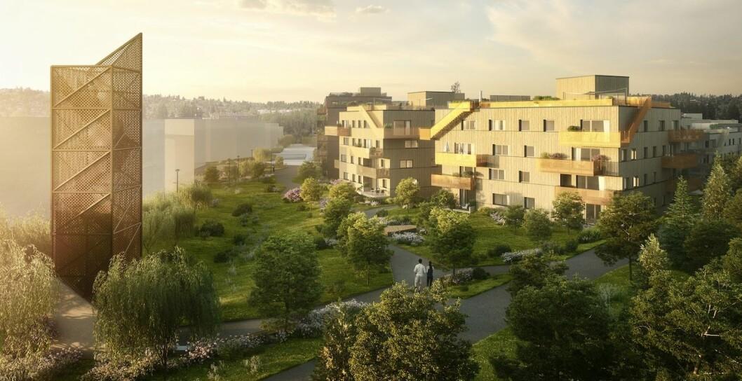 HØYT: Noen av leilighetene i Berger hag er høyt priset, men det skremmer ikke kundene bort. Ill.: Bakke