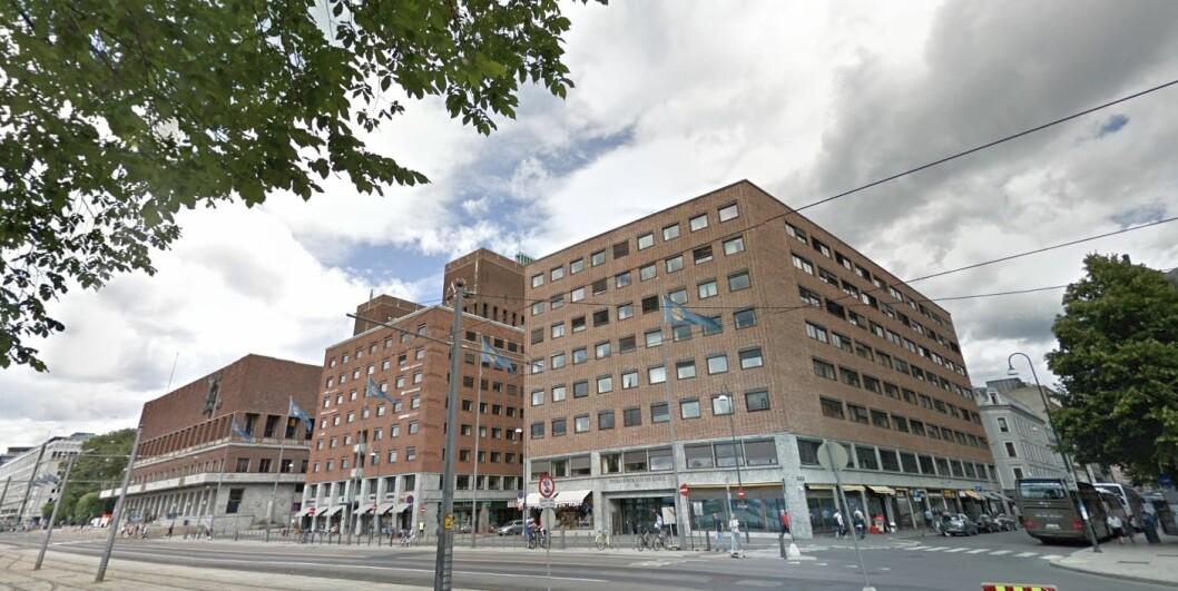 REHABILITERES: Tordenskjoldsgate 12 ved rådhuset i Oslo skal gjennom et omfattende rehabilitering de nærmeste par årene. Foto: Google