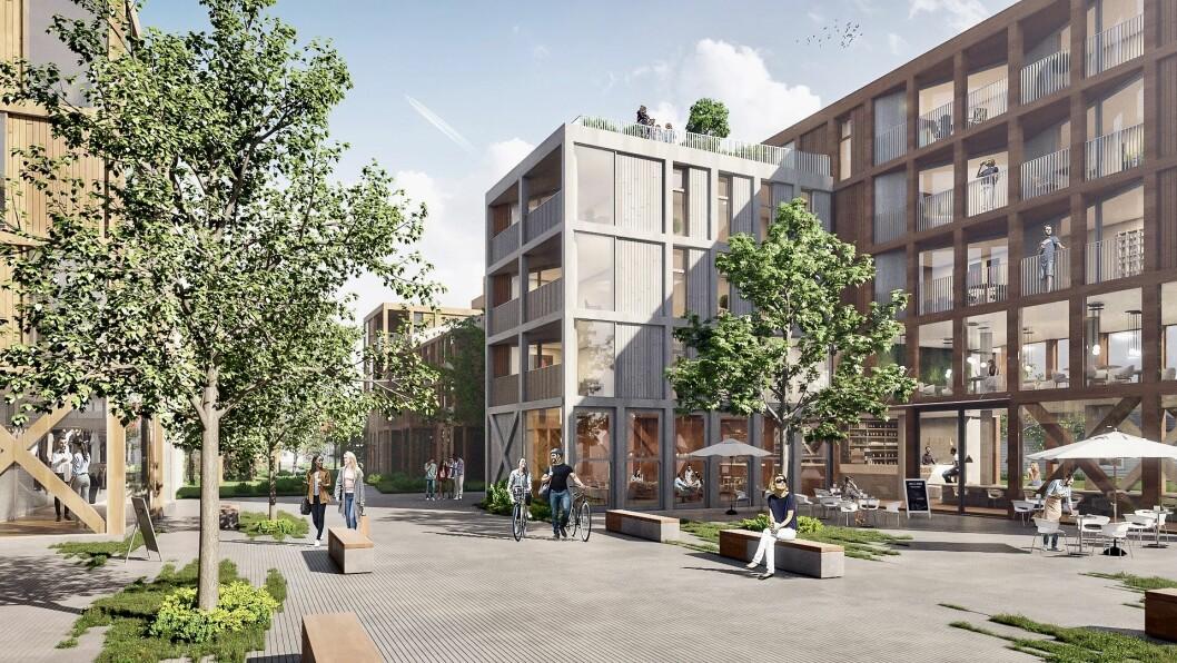UTVIKLING: Tolvsrødsenteret skal rives og i løpet av få år erstattes med en ny nærlandsby – Tolvsrød Torg.