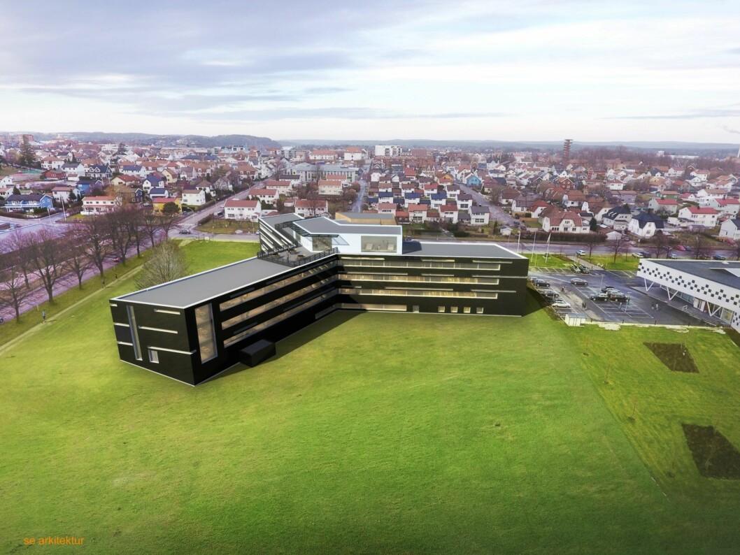 LANDEMERKE: Stjernebygget i Sarpsborg står foran store endringer i året som kommer. Ill.: SE-Arkitektur