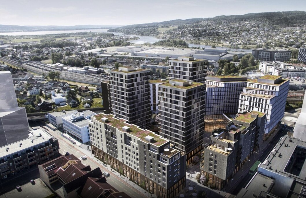 STORT: Meierikvartalet skal bestå av flere bygninger, blant annet med de tre høyeste byggene i byen. Ill.: StorOslo Eiendom