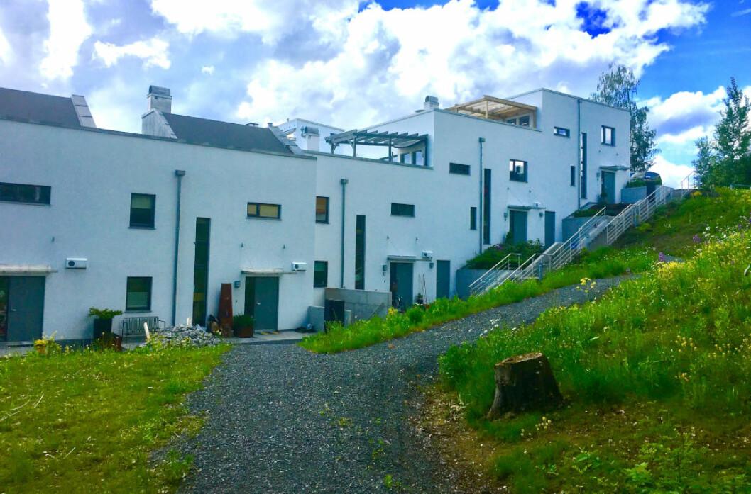 PROBLEMPROSJEKT: Dette boligprosjektet i Bærum gikk ikke etter planen. Asker og Bærum tingrett mener den innleide prosjektlederen må ta ansvar og dømmer ham til å betale erstatning til utbyggeren.