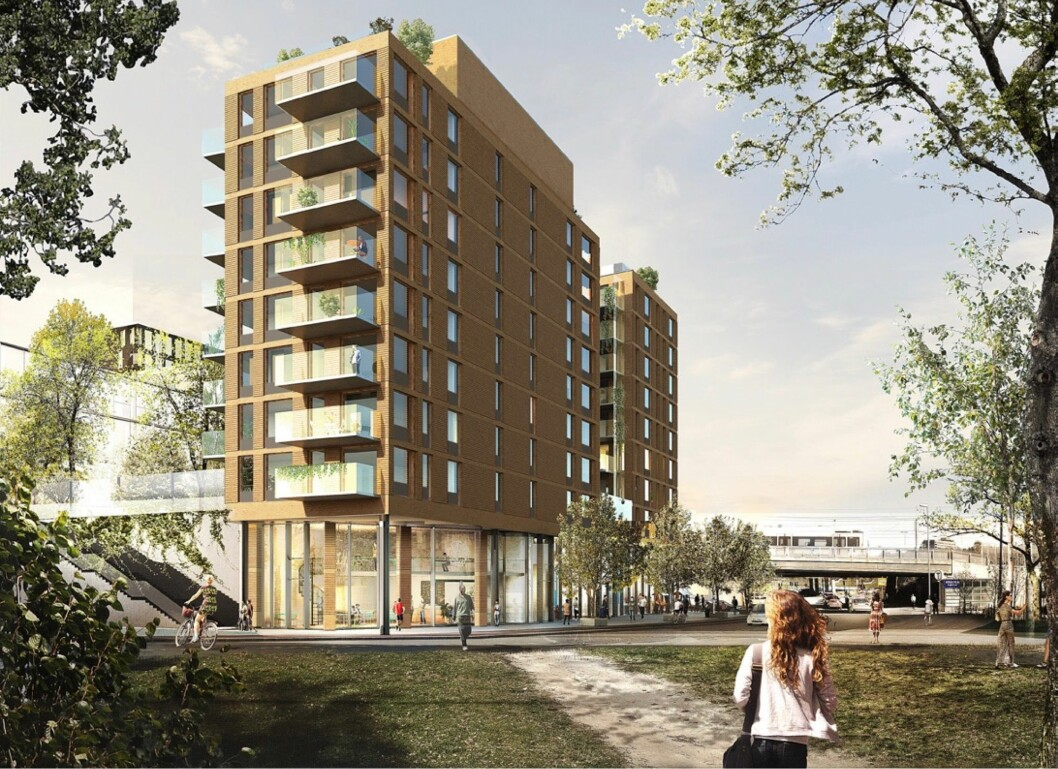 72 BOLIGER: Bystyret sa ja til 10 etasjer med 72 boenheter, men eierne ønsker mer. Ill: White Arkitekter