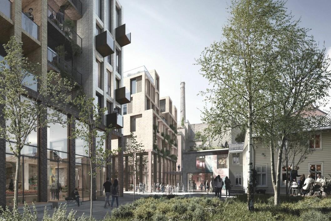 VINNER: Reiulf Ramstad arkitekter fikk jobben med å utvikle Bakgårdsslottet for Bertel O Steen og Aspelin Ramm.