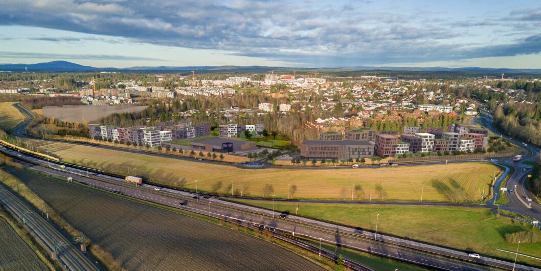 START: BundeBygg skal bygge de 124 første leilighetene på Jessheim Sør i Ullensaker kommune.