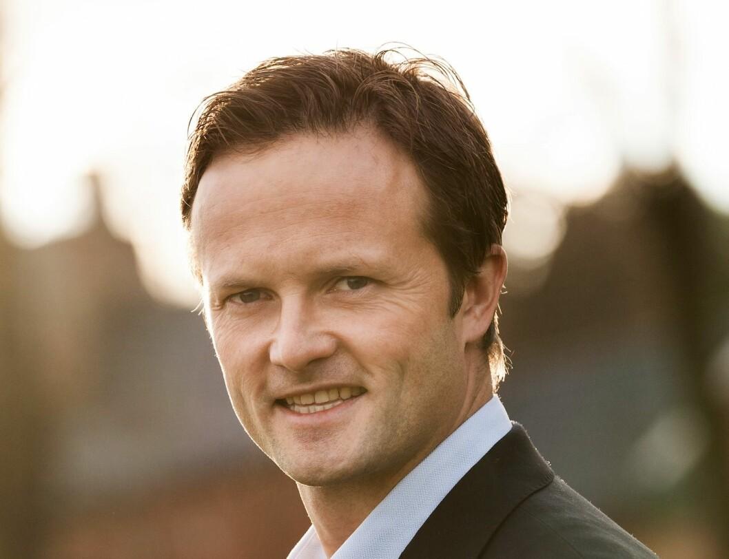 – GOD BELIGGENHET: Adm. direktør Jens Jalland i Løvenskiold Eiendom er fornøyd med beliggenheten til tomten.