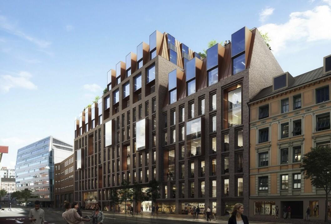 KLIMAGEVINST: - Gjenbruk av bygningsmasse gir en betydelig klimagevinst, påpeker Plan- og bygningsetaten. Ill: AART/SJ architects.