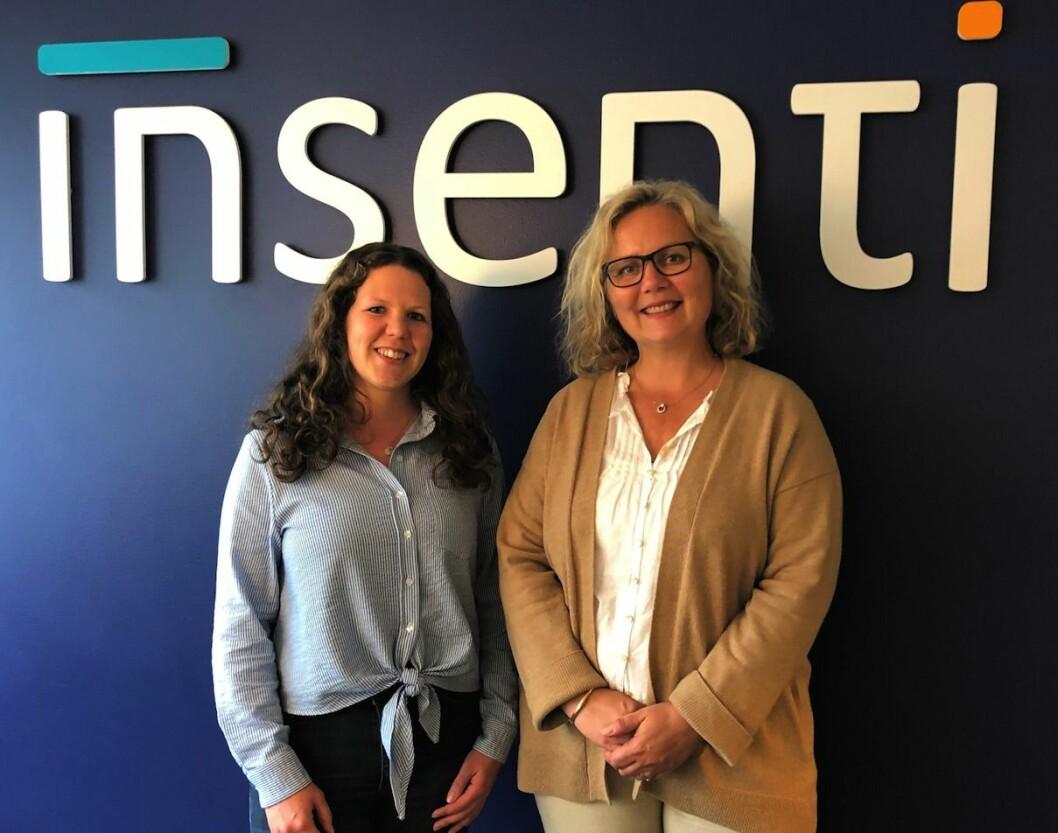 NYE: Randi Lunke (tv) og Ellen Stupar Krogsgård er to av de nye medarbeiderne til Insenti.