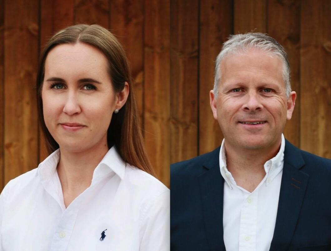 NYE: Caroline Vassjø Ryen og Ole-Martin Loeshagen er nye i Hønefoss-selskapet XPND. Foto: XPND