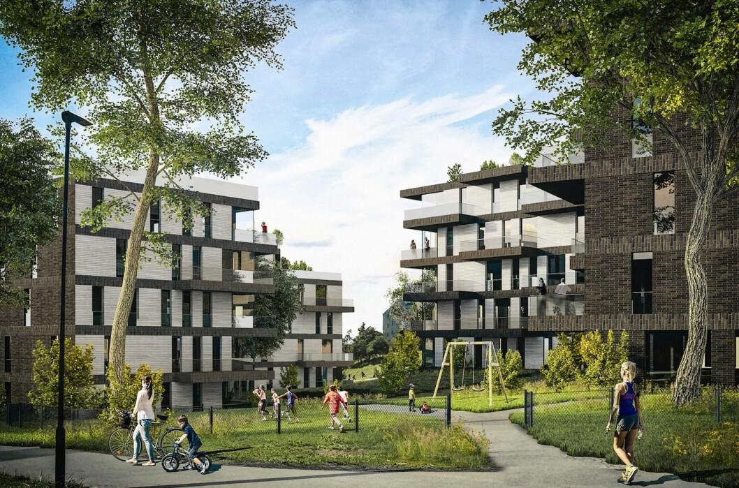 STØRST: Neptune Properties fikk regulert 396 nye boliger i første halvår. Her er fra prosjektet i Ensjøveien 4.