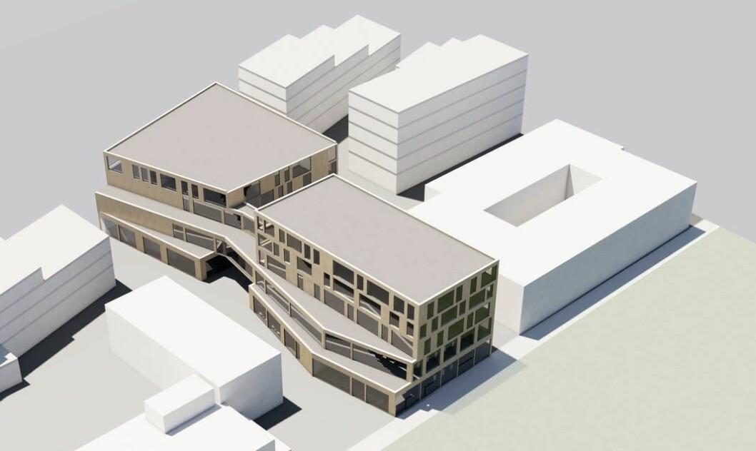 Bilde: Vestby har bestemt seg for hvem som skal bygge kommunens kulturkvartal. Ill.: L2 arkitekter
