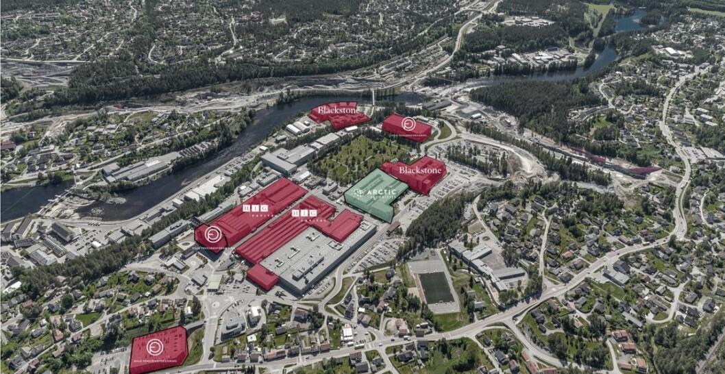 STORT AREAL: Det samlede arealet er på nesten 175 000 kvadratmeter.