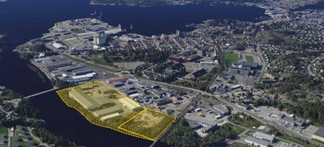LARVIK: Fearnley Project Finance har kjøpt ca. 90 mål tomt i Larvik. Foto: Fearnley