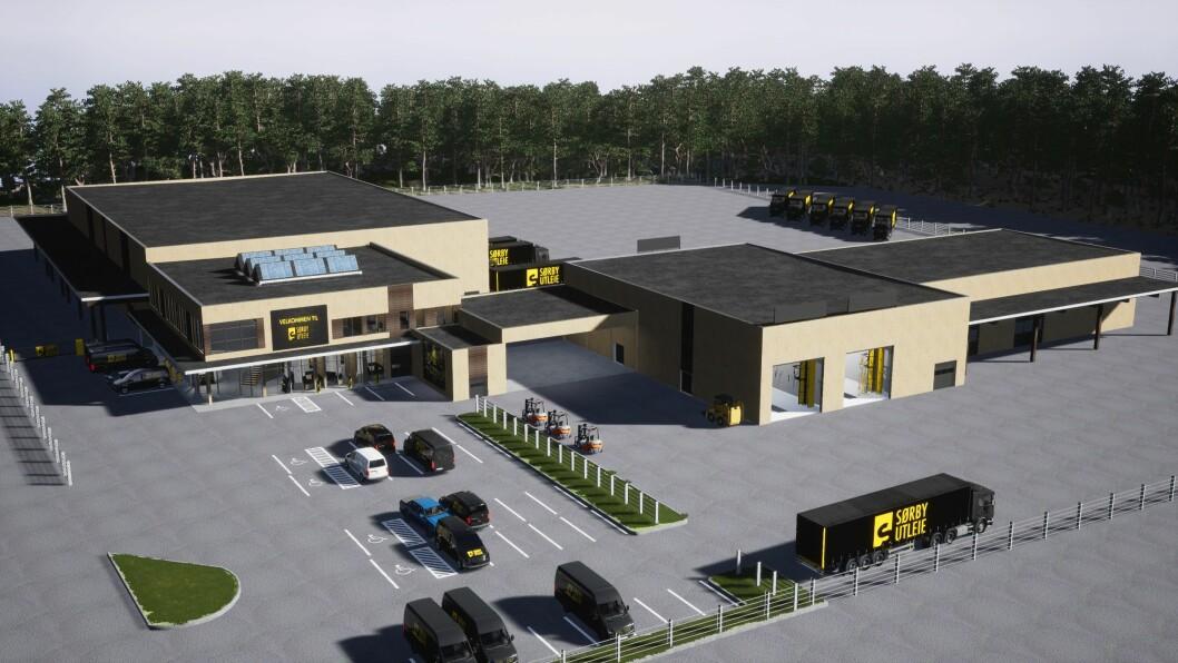 TRE: Anlegget til Sørbye Utvikling skal bygges i massivtre. Ill.: Showfabrikken Media/Sørby Utleie