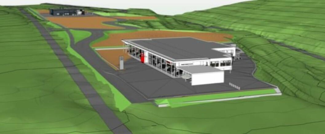 BIL: Harald Hustad i Molde investerer 83 millioner i ny butikk. Ill.: Kongsberg Arkitektkontor