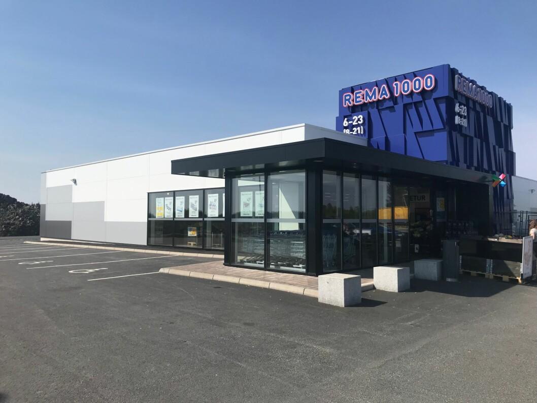 HANDEL: REMA 1000 på Mongstad i Hordaland er blant AKAs nye eiendommer.