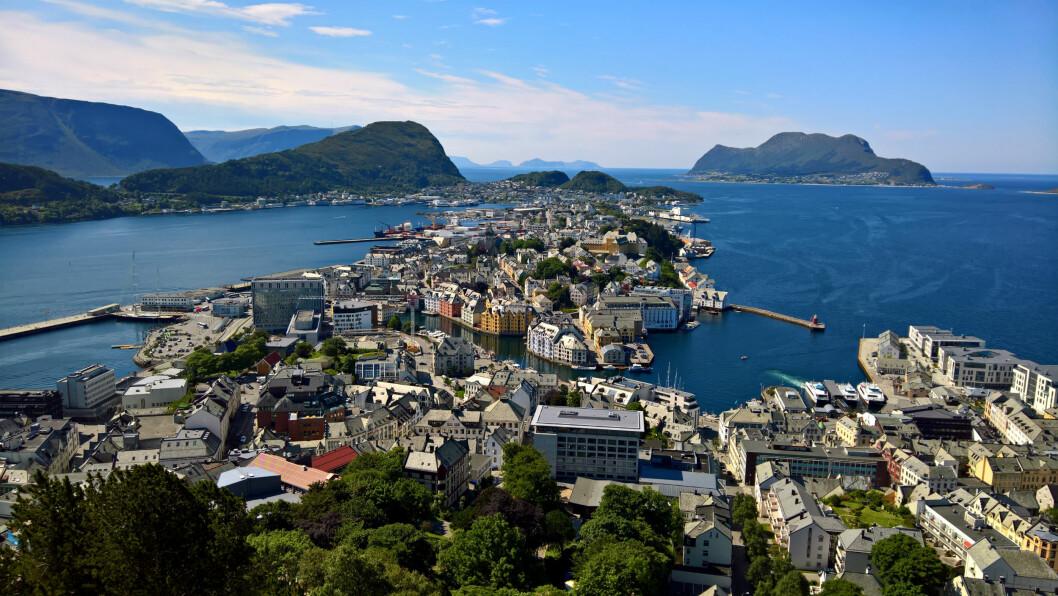 LAB: Ålesund blir FNs testby. Foto: Eplemoser Wikipedia CC 4.0