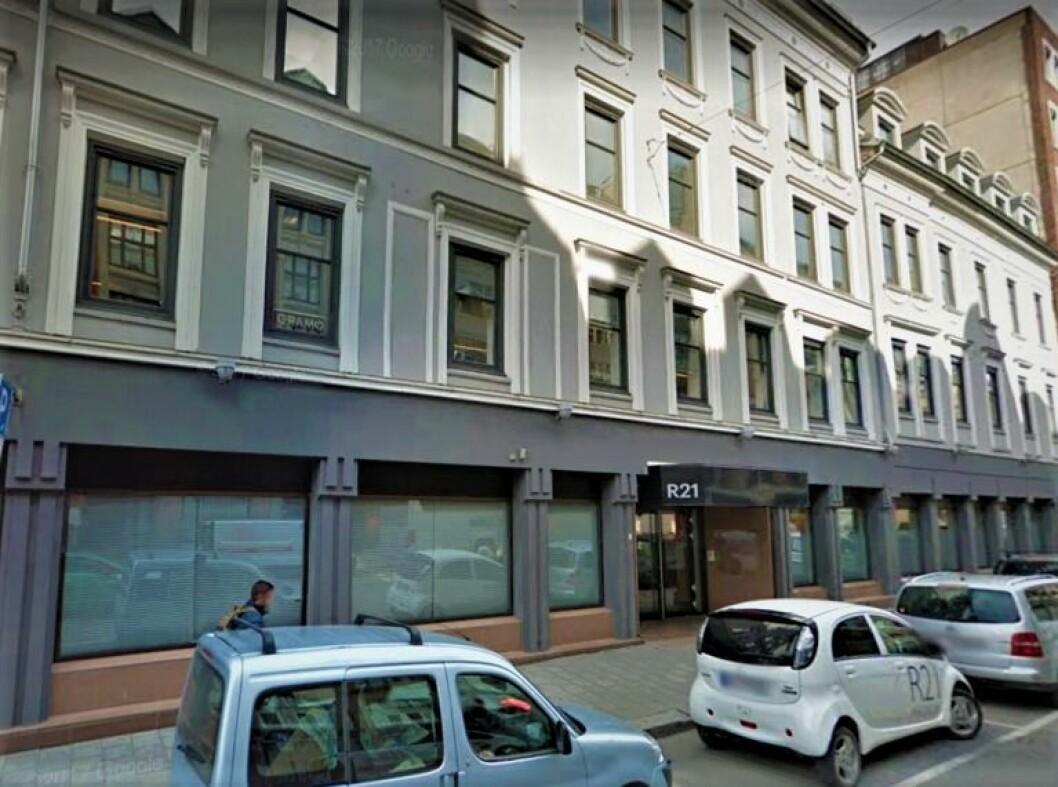 SOLID GEVINST: Mallin Eiendom solgte Rosenkrantzgate 19 og 21 i 2018, en transaksjon som ga god bevegelse i regnskapene til eiendomsselskapet. (Foto: Google Street View)